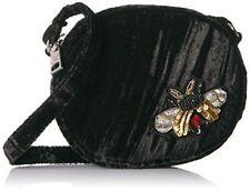 Steve Madden Women's Black Lotus Mini Canteen with Bug Appliqués Crossbody Bag