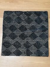 2 Black/Silver Square Soft Faux Velvet Throw Pillow Case Cushion Sham Sofa Bed