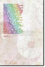DMT citar cartel-la Psychonaut Serie-Foto De Regalo-dimethyltryptamine