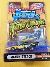 MUSCLE MACHINES 1991 CORVETTE  NITRO COUPE - 1:64TH SCALE DIE-CAST BOX A