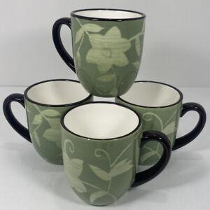 Set of 4: Pfaltzgraff: Patio Garden Coffee Mug 2011, Excellent Condition!