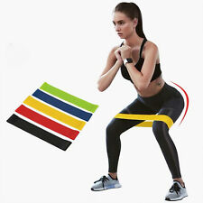 5 Pieces Resistance Loop Bands Set Legs Workout Exercise Fitness Yoga Pull Up