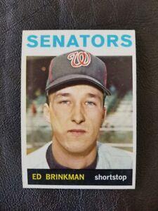 1964 TOPPS BASEBALL ED BRINKMAN NUMBER 46 SENATORS NRMT