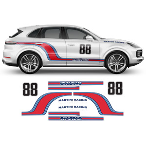 Curved Martini Racing Side Stripes, for Porsche Cayenne