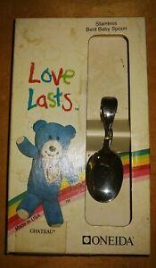 New Oneida Stainless Bent Baby Spoon