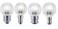 Eveready Golf Ball Light Bulbs - Opal, Clear Lamps 25W/40W/60W - SES SBC ES BC