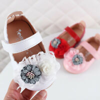 Toddler Infant Kids Baby Girls Elegant Flower Single Princess Shoes Sandals