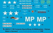 Peddinghaus 3014 1/48 V 100 comando etiqueta para los EE. UU. policía militar,