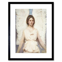 Abbott Handerson Thayer, Angel 1887 Old Painting Framed Art Print 12x16 Inch