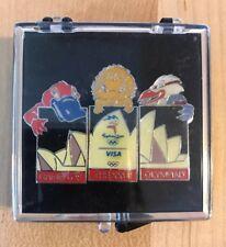 Sydney 2000 Olympics Collectors Pin Visa Australia Olympic Opera House Mascots