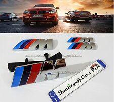 KIT BMW M sport Emblema M Badge Logo Serie 1 3 4 5 6 X GRIGLIA+COFANO+PARAFANGHI