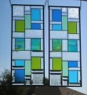 Stained+Glass+window+pair+-matching+set+each+-26+1%2F2%22+x+10+1%2F2%22+beveled+
