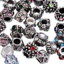 Lot 100pcs MIX Czech Crystal Tibetan Charm Beads Fit European Snake Bracelets