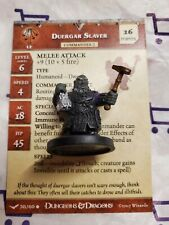 D&D Miniatures Unhallowed Duergar Slaver w/ Card