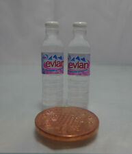 1:12 Scale 2x Bottles Of Evian Water ( Square)