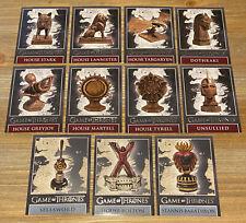 Game of Thrones Season 8 Map & Dragonstone Marker Complete Set DM1-DM8, MM7-MM9