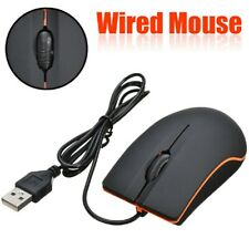 1* Optical LED Wired Gaming Mouse Mice With USB Cable Laptop Computer Accessory