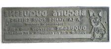 ANCIENNE PLAQUE D'IMPRIMERIE PUB BISCUITS POUR CHIENS DUQUESNE MONTFORT (EURE)