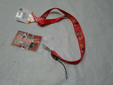 Qty = 42: New Disney Minnie Mouse Red Lanyard Keyrings