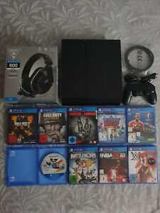 PS4 Playstation 4 500GB + HEADSET + 9 SPIELE