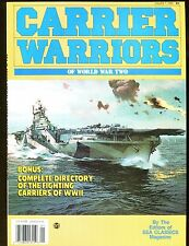 Carrier Warriors WWII Magazine 1990 Carriers Directory EX No ML 112616jhe