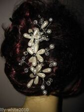 Accessoires de coiffure peigne à cheveux métalliques pour femme
