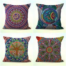 Us Seller- 4pcs decorative throw cushion covers Mexican Huichol Indian art