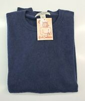 PULL TAILLE L SWEATER HOMME 100% PUR CASHMERE CACHEMIRE PRONTO UOMO BLEU