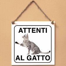 Mau egiziano 5 Attenti al gatto Targa gatto cartello ceramic tiles