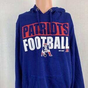 47 Brand New England Patriots Legacy Hoodie Sweatshirt NFL Football Blue Size L