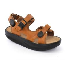 MBT Kisumu 2 Walking SANDALS Ladies size 39 / 8.5 Brown Leather Rolling SHOES