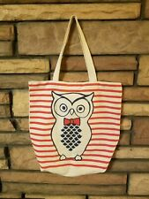 Vintage OWL Canvas Tote Bag As seen Graphics Tote Beach Travel Duffel FASHION