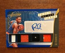 RJ Barrett 2019-20 Absolute Rookie Auto Quad Patch Ball TT4-RJB Knicks Duke 3/25