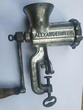Antique Vintage German Kitchen Meat Mincer Iron Cast Alexanderwerk # 8