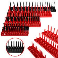 """6pcs 1/4"""" 3/8"""" 1/2"""" Metric SAE Socket Tray Rack Holder Garage Tool Organizer Set"""