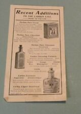 1920's Larkin Company New Products Advertising Flier Rose Water Stove Polish