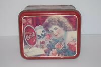 "Vintage Coca-Cola Collectors Tin ""The Girl with Roses"""
