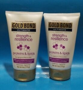 LOT OF 2• GOLD BOND ULTIMATE Cream Strength & Resilience For MATURE SKIN 4 oz ea