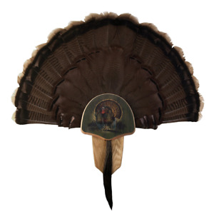 Walnut Hollow Country Turkey Fan Mount And Display Kit Oak With Drumsticks Image