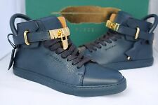 BUSCEMI MENS 100MM BLUE GOLD LOCKS LOCK HIGH TOP TOPS SNEAKERS SHOES 40/ US 7