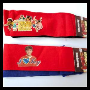 NWT Disney High School Musical I Love Troy Head wrap/Head Band - Set of 2 4pcs