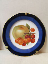 ancienne assiette decorative porcelaine limoges M&D pomme cerises plat