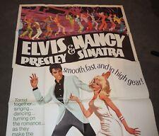 ELVIS Presley 1968 SPEEDWAY 3 sheet MOVIE POSTER Nancy Sinatra~UNUSED 41x81
