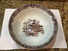 Burleigh Ware Extra Large Bowl - Chinoiserie Willow in Chocolate Brown Color