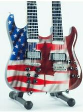 American Flag Miniature Tribute Twin Guitar (UK SELLER)