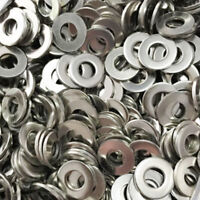 100Pcs Stainless Steel Flat Washers M1.6 to M10 Metric Screw Spring Lock Washer