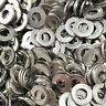 100Pcs Stainless Steel Flat Washers M1.6 to M10 Metric Screw Spring Lock Washer