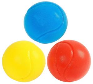Fun Sport Soft Ball 70mm Tennis ball Bouncy Safe Sponge Foam Pack Of 3