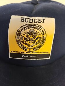 Vintage Snapback Trucker Hat Blue Budget Of The United States Government EUC