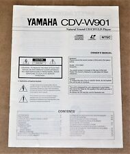 Yamaha CDV-W 901CD/LD player ORIGINAL  user manual in ENGLISH Language!